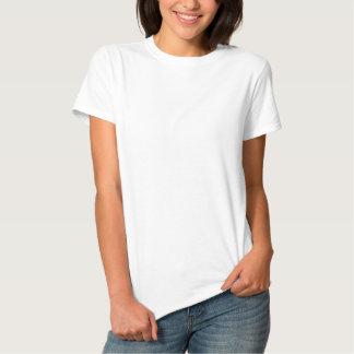 La camiseta básica bordada de las mujeres