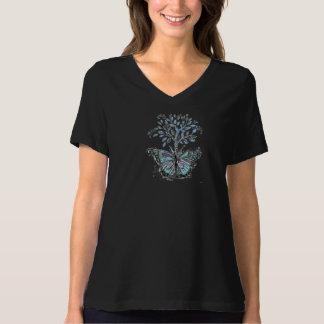 La camiseta básica de 3 mujeres negras de la