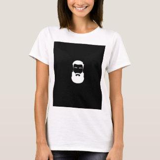 La camiseta básica de las mujeres de la barba
