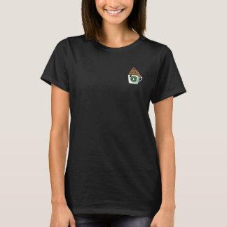 La camiseta básica de las mujeres del Doodle del