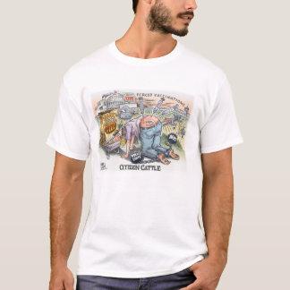 La camiseta básica de los hombres del ganado del
