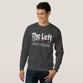 La camiseta básica de los hombres - la izquierda,