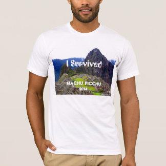 "La camiseta blanca ""sobreviví Machu Picchu 2014 """