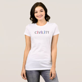 La camiseta cabida de las mujeres positivas para