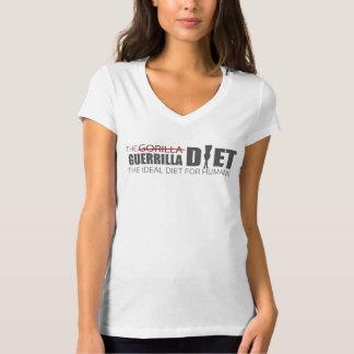 La camiseta con cuello de pico de la guerrilla de