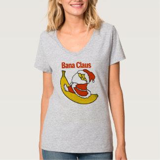 La camiseta con cuello de pico nana HQH de las