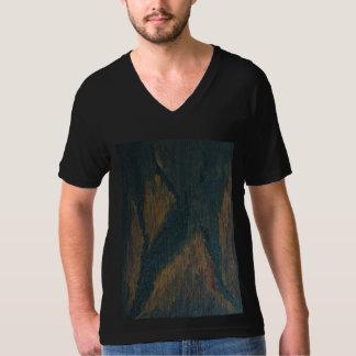 La camiseta con cuello de pico XS-2XL de los