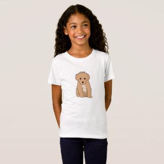 La camiseta de Brown del niño lindo del perrito