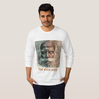 la camiseta de la barba del viejo hombre