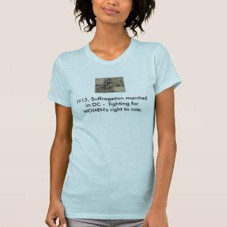 La camiseta de la ERA, Suffragettes marchó en DC