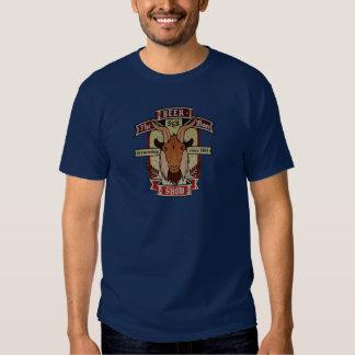 La camiseta de la etiqueta de la cerveza de la