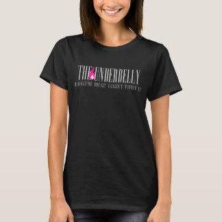 La camiseta de la firma del bajo vientre