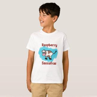 La camiseta de la frambuesa del niño clásico del