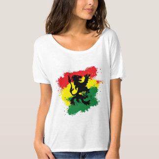 La camiseta de la mujer de Rasta: León de Judah
