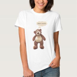 La camiseta de la mujer del oso de peluche