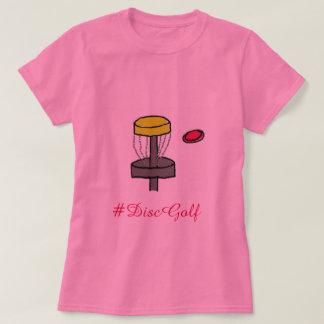 La camiseta de la promoción del golf del disco de
