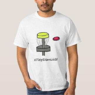 La camiseta de la promoción del golf del disco del