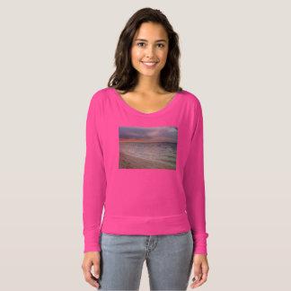 La camiseta de la puesta del sol de las mujeres de