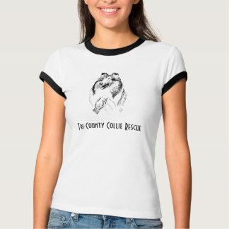 La camiseta de la señora del rescate del collie