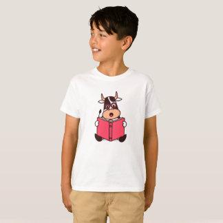 La camiseta de la vaca del ratón de biblioteca de