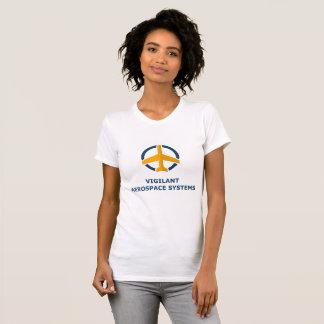 La camiseta de las mujeres aeroespaciales