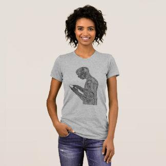 La camiseta de las mujeres americanas del rezo