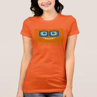 La camiseta de las mujeres anaranjadas de la banda