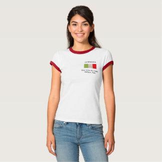 La camiseta de las mujeres con la bandera italiana