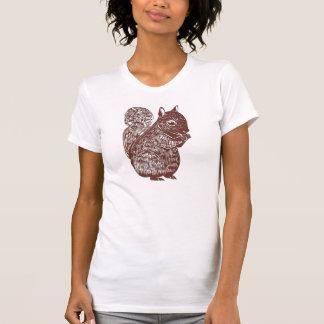 La camiseta de las mujeres de la ardilla