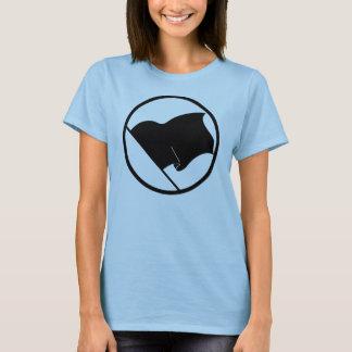 La camiseta de las mujeres de la bandera negra del