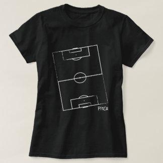 La camiseta de las mujeres de la echada del fútbol