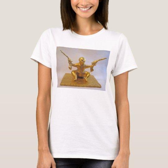 La camiseta de las mujeres de la escultura del