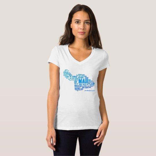 La camiseta de las mujeres de la nube de la