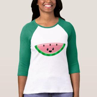 La camiseta de las mujeres de la sandía