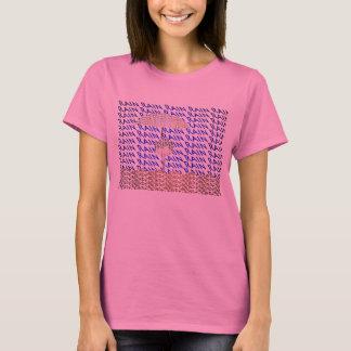 La camiseta de las mujeres de la tipografía de la