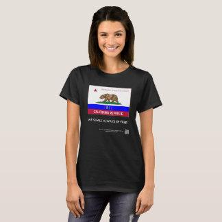 La camiseta de las mujeres de lujo de la república