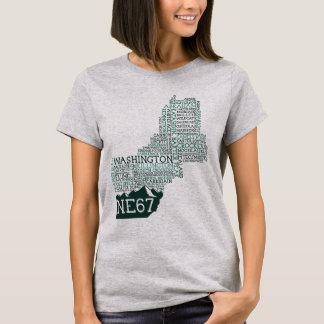 La camiseta de las mujeres de Nueva Inglaterra 67