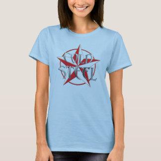 La camiseta de las mujeres del acero frío