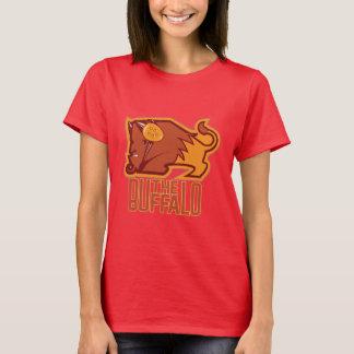 La camiseta de las mujeres del búfalo (diseño