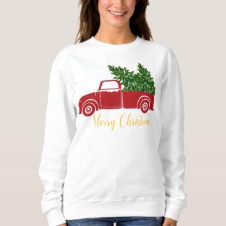 La camiseta de las mujeres del camión del árbol de
