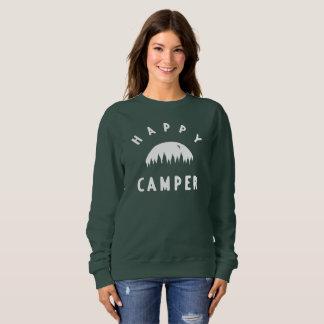 La camiseta de las mujeres del campista contento