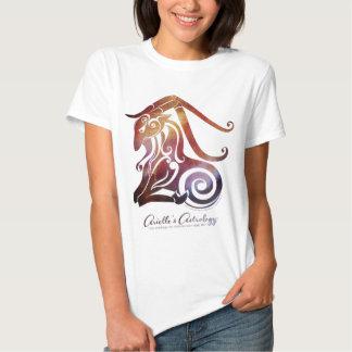 La camiseta de las mujeres del Capricornio