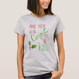 La camiseta de las mujeres del día de fiesta de
