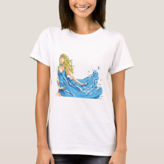 La camiseta de las mujeres del duende del agua de