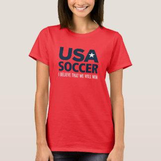 La camiseta de las mujeres del fútbol de los
