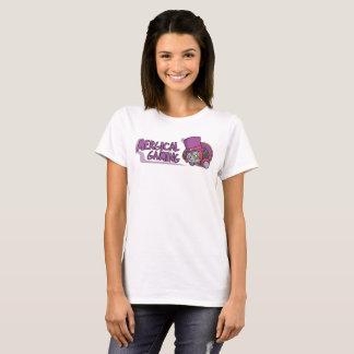 La camiseta de las mujeres del logotipo del juego