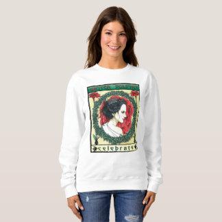 La camiseta de las mujeres del navidad del