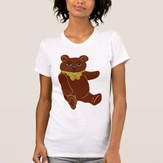 La camiseta de las mujeres del oso de peluche