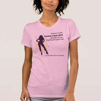 La camiseta de las mujeres del top model