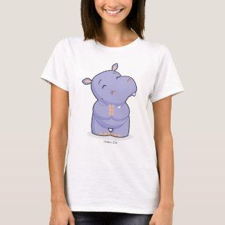 La camiseta de las mujeres felices del hipopótamo